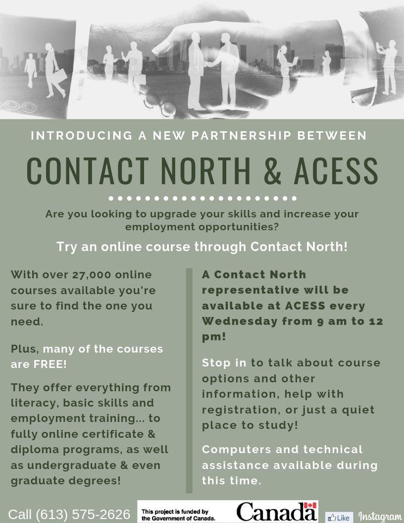 New Partnership between ACESS & Contact North Flyer