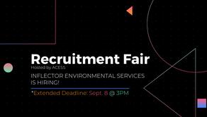 Deadline Extended - Inflector Environmental Services Recruitment Fair