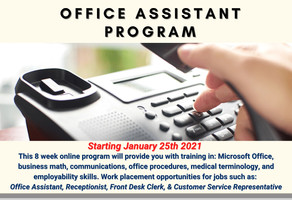 Office Assistant Program 2021