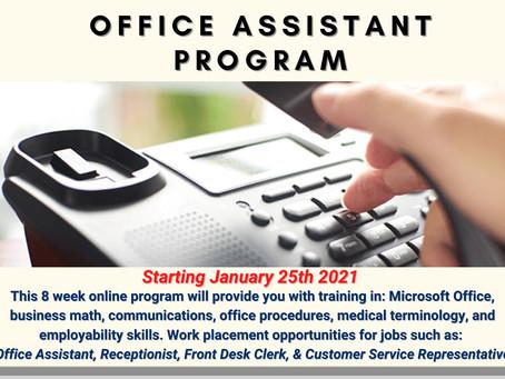 Office Assistant Program 2021