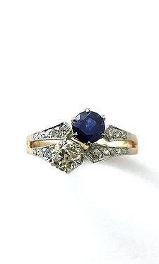 Safir-Diamantring