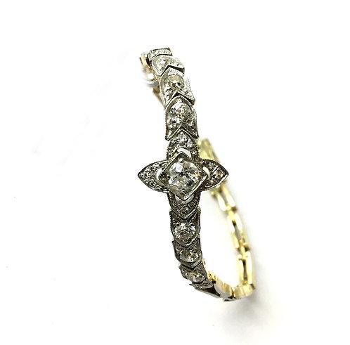 Blüten-Armband mit Altschliff-Diamanten