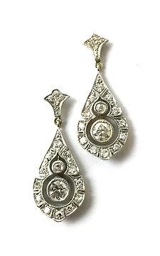 1 Paar tropfenförmige Diamant-Ohrhänger
