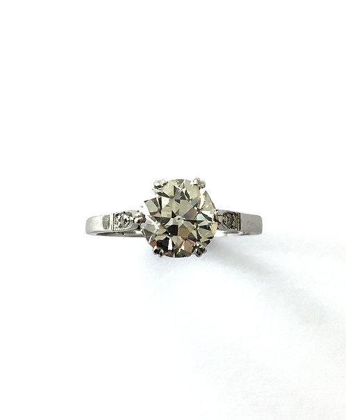 Diamant–Ring in Weißgold