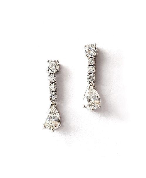 "1 Paar Diamant-Ohrhänger ""Timeless Elegance"""
