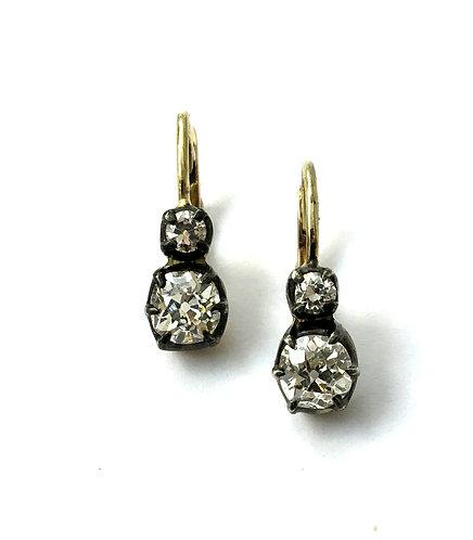 1 Paar Diamant-Ohrringe im viktorianischen Stil