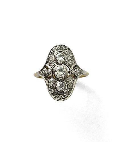 Edler Diamant-Ring im Stil des Art Déco