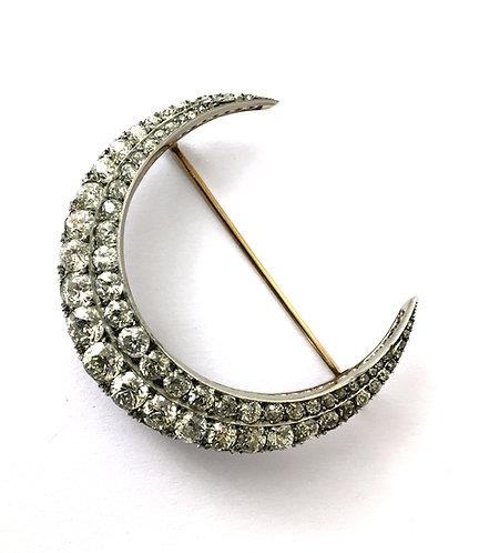 """Diamant-Brosche """"La Luna"""""""