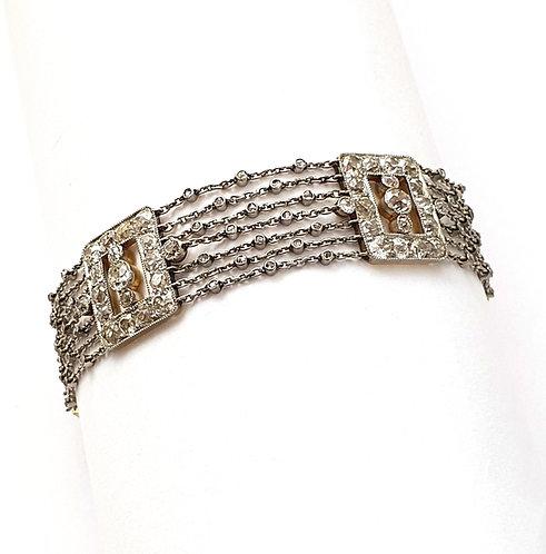 Platin-Armband mit Diamanten