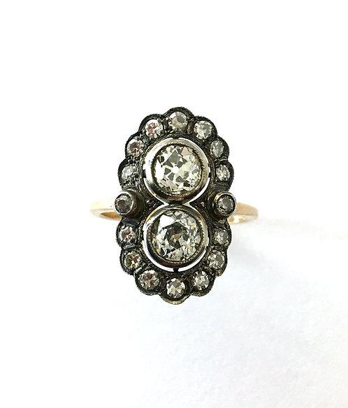 Diamant-Ring im  Stil der Belle Epoche