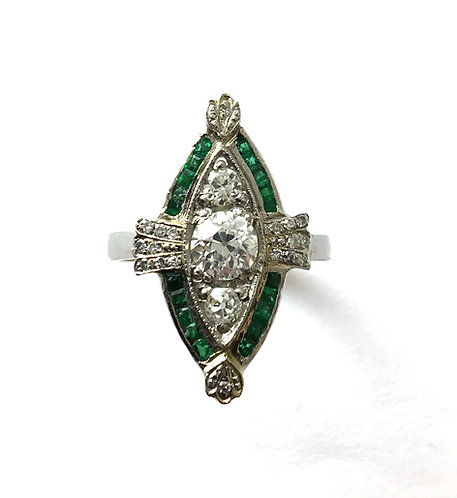 Exklusiver Marquise–Ring