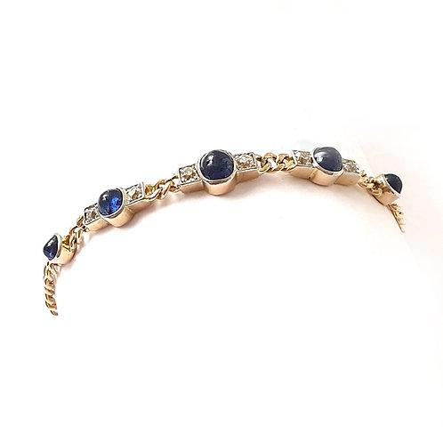 Safir-Diamant-Armband