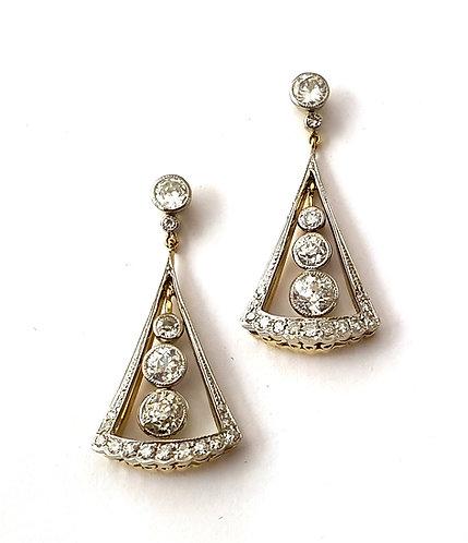 1 Paar Diamant-Ohrhänger