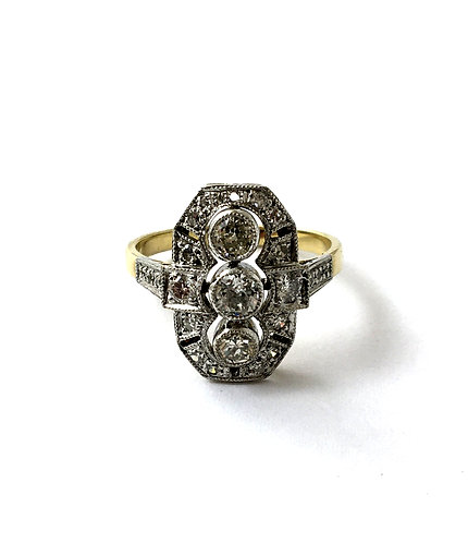 Diamant-Ring im Stil des Art Deco