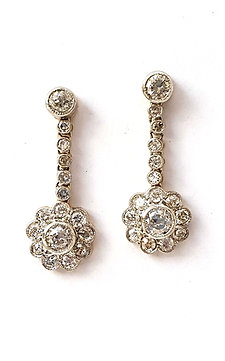 "1 Paar Diamant-Ohrhänger ""Fiore"""