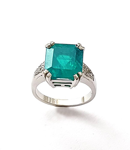 Smaragd-Brillantring