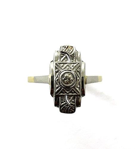 Zarter Ring im  Art Deco-Stil