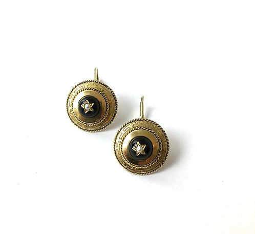 1 Paar Ohrhänger im Stil des Biedermeier