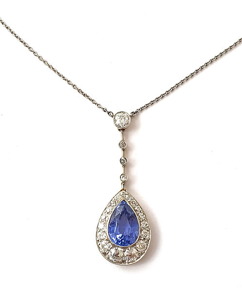 Safir-Diamant-Collier