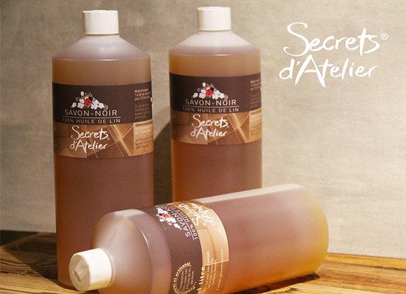 Savon noir à l'huile de lin 1000 ml