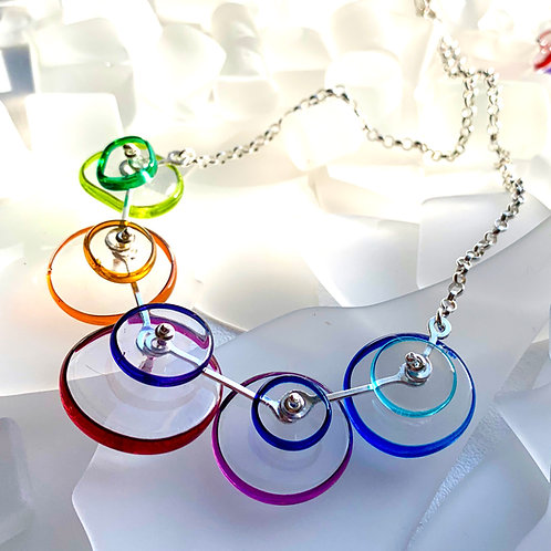 """""""Coupling"""" Necklace , Rainbow"""