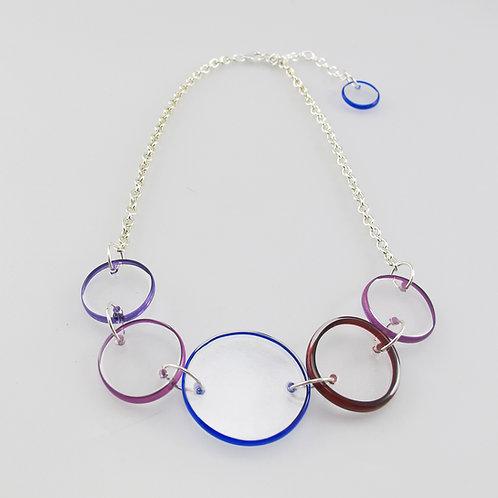 Halo Necklace (Cobalt/Purple)