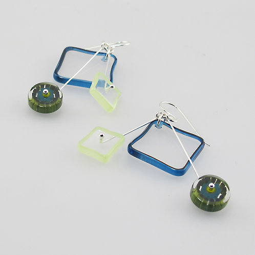 Avocado Kinetic Earrings