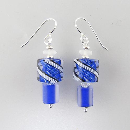 Audacious Earrings (Colbalt 1)