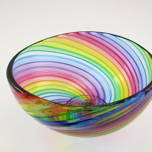 "Rainbow Bowl,   8""wide x  4""high"