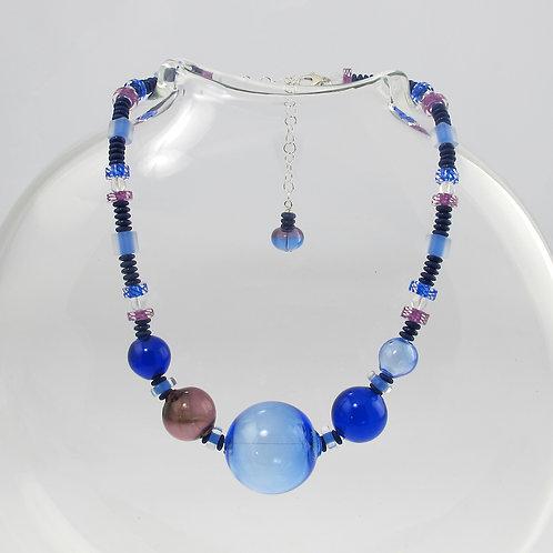 """""""Sapphire"""" Blue Bauble Necklace"""