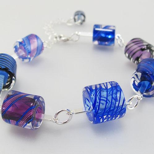Cafe Bracelet (Cobalt Purple Colors)