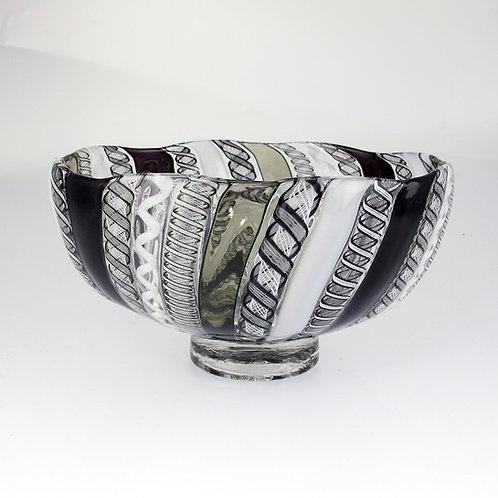 """Cane Bowl,  (B&W), 7.5""""wide x 4""""high"""
