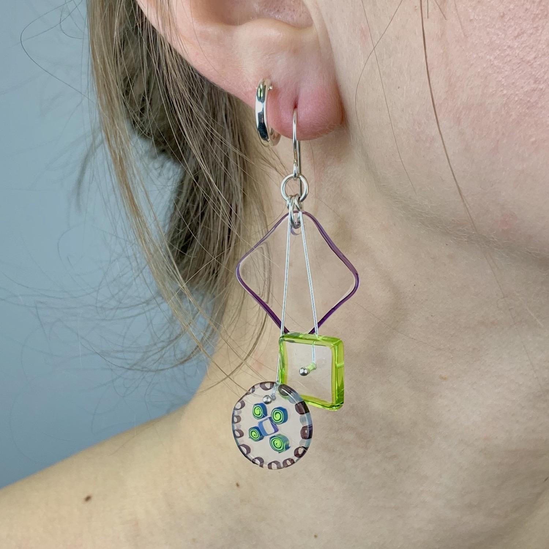 Thumbnail: Celery Kinetic Earrings