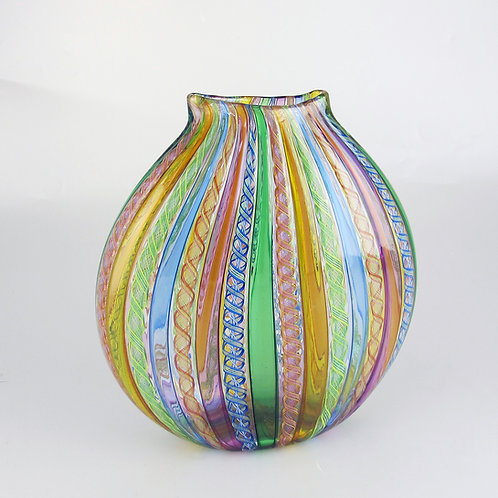 "FlatRound"",  (Multi) ,  8""tall x 8""wide"