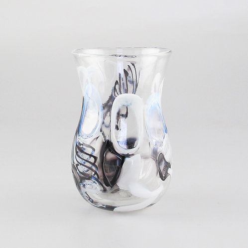 """HourGlass Cup"" (B&W)   4.5"" tall x 2.5"" wide"
