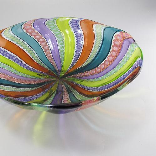 "Cane Bowl, (MultiII), 12""w x 3.5""h"