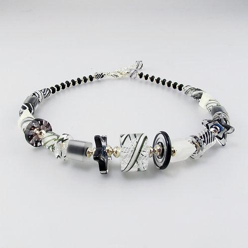 Audacious Necklace  (B&W)