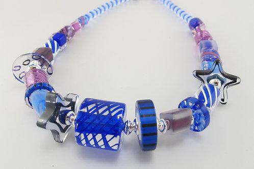 Audacious Necklace  (Cobalt/Purple)