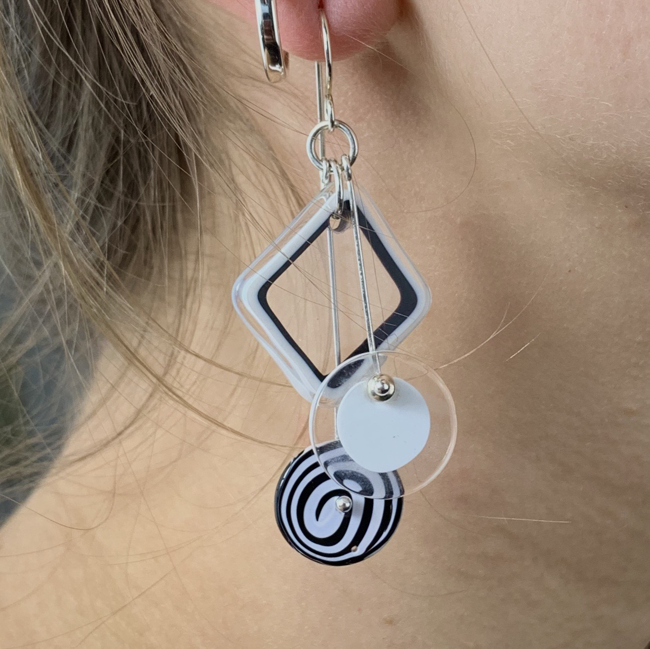 Thumbnail: Sacred Geometry Kinetic Earrings