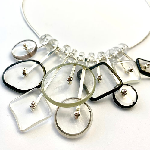 """Kinetic"" Necklace:B&W"
