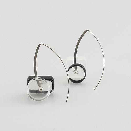 BG Earrings, B&W