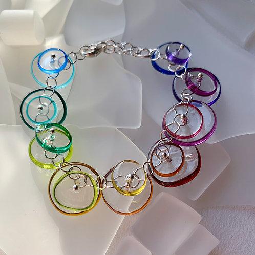 """Coupling"" Bracelet: rainbow"