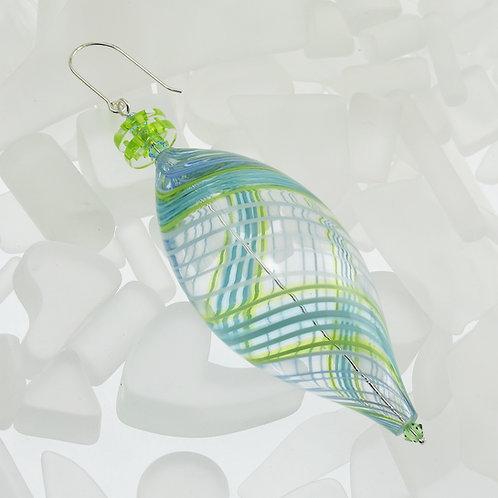 """Seafoam"" Oval Ornament"