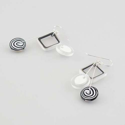 Sacred Geometry Kinetic Earrings
