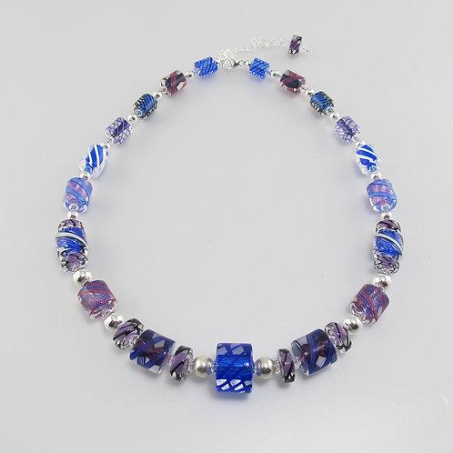 Penelope Necklace (Cobalt/Purple)