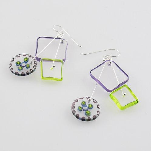 Celery Kinetic Earrings