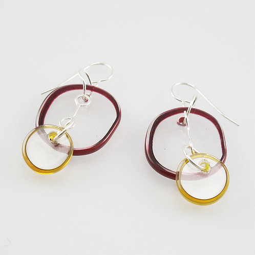 Halo Earrings 2 Part (Warm Colors)