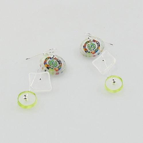 Kiwi Kinetic Earrings