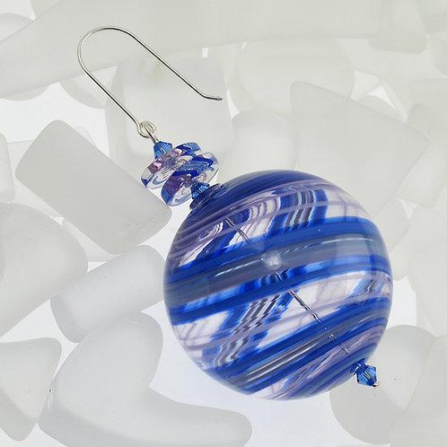 """Monkshood"" Round Ornament"