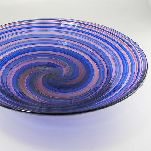 "Veil Bowl, (Cblt/Prpl), 17""wide x 4.5""high"
